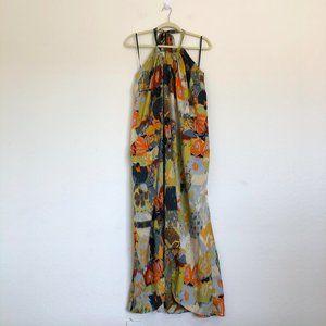 Walter Baker W118 Multicolor Halter Maxi Dress